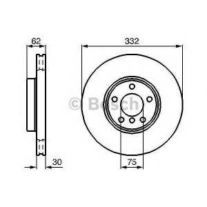 BOSCH 0986478974 Гальмівний диск BMW X5 E53 F