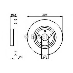 Тормозной диск 0986478977 bosch - SUBARU IMPREZA Наклонная задняя часть Наклонная задняя часть 2.5 WRX