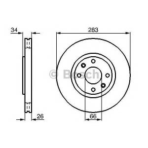 BOSCH 0 986 478 979 Диск тормозной CITROEN C3, C4 PEUGEOT 207, 408 передн., вент. (пр-во Bosch)
