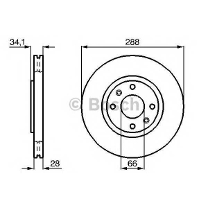 BOSCH 0 986 478 980 Тормозной диск Ситроен С5 Брейк