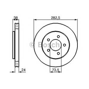 BOSCH 0 986 478 983 Тормозной диск Додж Караван