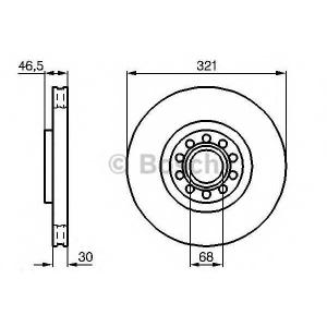 Тормозной диск 0986478985 bosch - AUDI A6 (4B, C5) седан 4.2 quattro