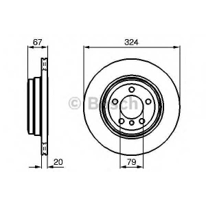 BOSCH 0986479004 Гальмівний диск BMW E65 730d, 730i, 735i 2002- R
