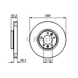 BOSCH 0 986 479 026 Тормозной диск Ситроен Хм