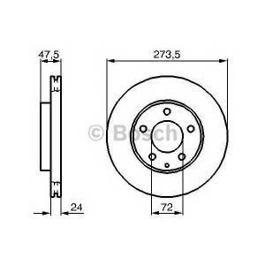 BOSCH 0986479034 Гальмівний диск MAZDA 323/626/6 1,8-2,0 \98>>