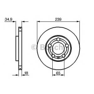 BOSCH 0986479036 Гальмівний диск VW SKODA Polo Fabia F
