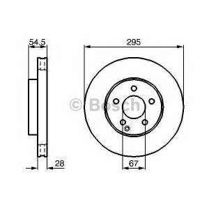 Тормозной диск 0986479038 bosch - MERCEDES-BENZ E-CLASS (W211) седан E 240 (211.061)