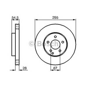 BOSCH 0 986 479 039 Тормозной диск (пр-во Bosch)