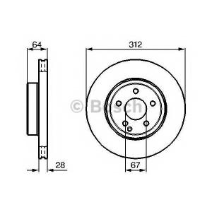 Тормозной диск 0986479040 bosch - MERCEDES-BENZ E-CLASS (W211) седан E 500 (211.070)