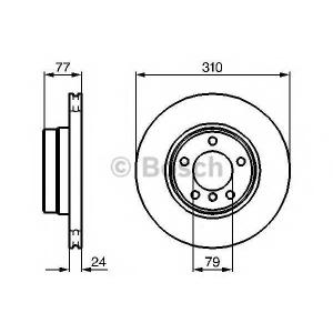 Тормозной диск 0986479055 bosch - BMW 5 (E60) седан 520 i