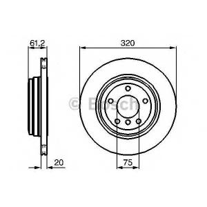 BOSCH 0 986 479 056 Тормозной диск (пр-во Bosch)