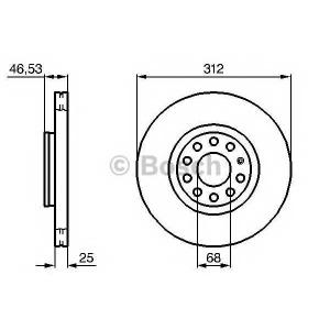 Тормозной диск 0986479057 bosch - AUDI A6 Avant (4B, C5) универсал 4.2 quattro