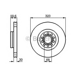 Тормозной диск 0986479060 bosch - VW PHAETON (3D_) седан 3.2 V6