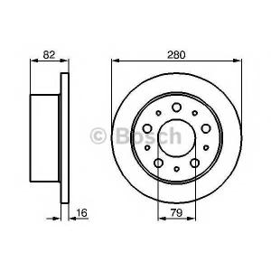 BOSCH 0986479066 Гальмівний диск CITROEN/FIAT/PEUGEOT Jumper/Ducato/Boxer D=72mm R \94>>