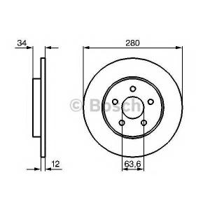 Тормозной диск 0986479068 bosch - FORD MONDEO III универсал (BWY) универсал 2.2 TDCi