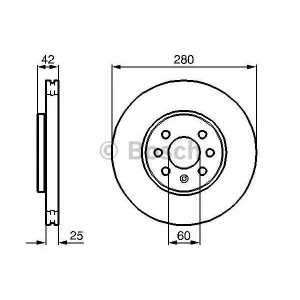 BOSCH 0986479077 Гальмівний диск OPEL Meriva F