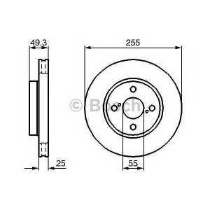 BOSCH 0986479085 Гальмівний диск TOYOTA Corolla F \02>>