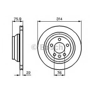 BOSCH 0986479094 Гальмівний диск VW Multivan/Touareg 314mm \03>>