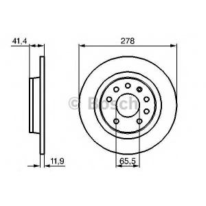 BOSCH 0 986 479 106 Диск тормозной FIAT, OPEL SIGNUM, SAAB, задн. (пр-во Bosch)