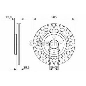 BOSCH 0986479114 Гальмівний диск CITROEN/FIAT/LANCIA/PEUGEOT C8/Jumpy/Scudo/807/Expert F \99>>