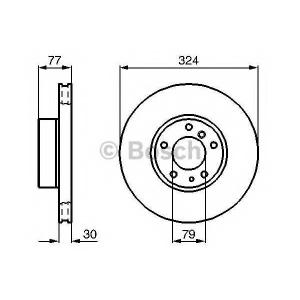 Тормозной диск 0986479116 bosch - BMW 8 (E31) купе 850 i,Ci