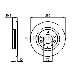 Тормозной диск 0986479131 bosch - MAZDA 6 Hatchback (GG) Наклонная задняя часть 1.8