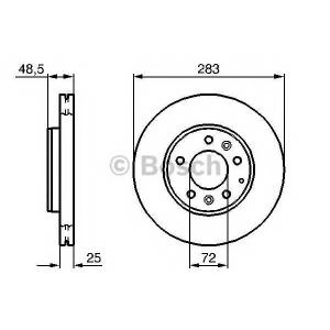 Тормозной диск 0986479132 bosch - MAZDA 6 Hatchback (GG) Наклонная задняя часть 2.0