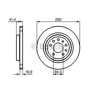 BOSCH 0 986 479 142 Тормозной диск Фиат Хрома