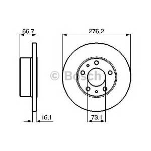 BOSCH 0986479161 Тормозной диск
