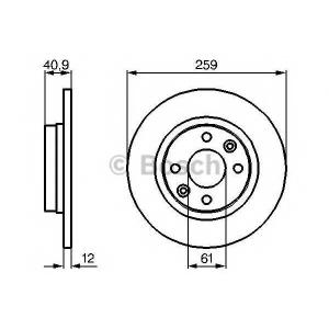 BOSCH 0 986 479 164 Тормозной диск (пр-во Bosch)