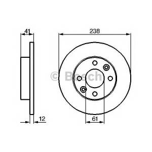 BOSCH 0986479165 Тормозной диск передний Dacia Logan Sandero 04- (238*12)
