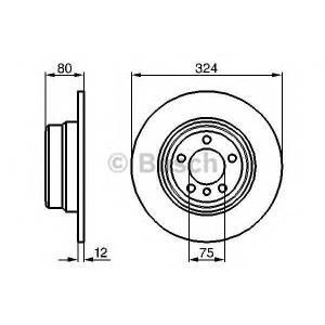 Тормозной диск 0986479167 bosch - BMW X5 (E53) вездеход закрытый 4.4 i