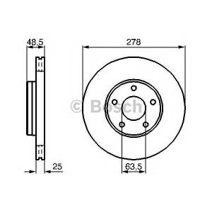 Тормозной диск 0986479173 bosch - VOLVO S40 II (MS) седан 1.6 D2