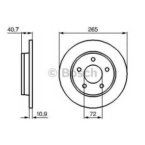 Тормозной диск 0986479178 bosch - MAZDA 3 (BK) Наклонная задняя часть 1.4