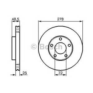 BOSCH 0 986 479 179 Тормозной диск (пр-во Bosch)