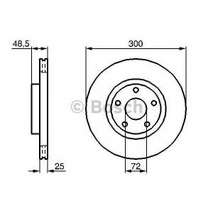 BOSCH 0 986 479 183 Тормозной диск (пр-во Bosch)