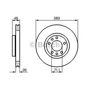 0986479193 bosch Тормозной диск PEUGEOT 508 седан 1.6 VTi