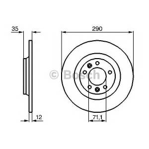 BOSCH 0986479194 Гальмівний диск CITROEN/PEUGEOT C5/407/607 R \04>>