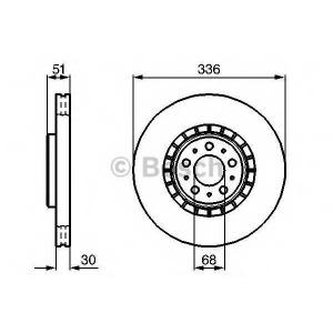 Тормозной диск 0986479202 bosch - VOLVO XC90 универсал 3.2