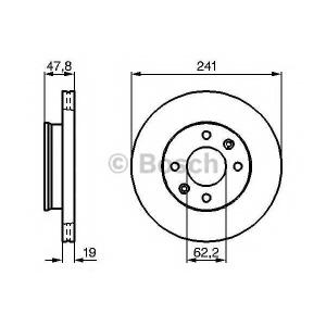 BOSCH 0986479206 Тормозной диск