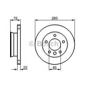 BOSCH 0 986 479 212 Тормозной диск (пр-во Bosch)