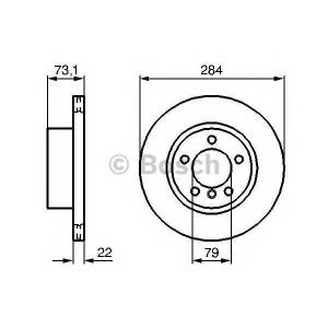 Тормозной диск 0986479213 bosch - BMW 1 (F20, F21) Наклонная задняя часть 116 i