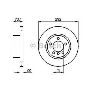 BOSCH 0 986 479 214 Тормозной диск (пр-во Bosch)