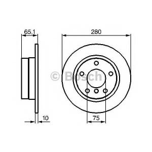 BOSCH 0986479217 Гальмівний диск BMW 1 E81 R