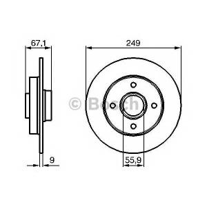 BOSCH 0986479219 Гальмівний диск PEUGEOT 307 R \00>>