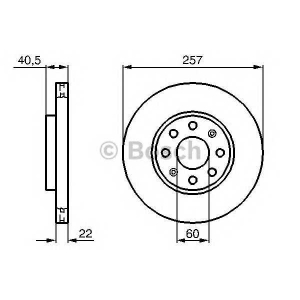 BOSCH 0986479223 Гальмівний диск FIAT/OPEL Punto/CorsaD F \06>>