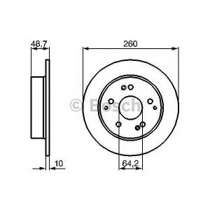 Тормозной диск 0986479225 bosch - HONDA CIVIC VII Hatchback (EU, EP, EV) Наклонная задняя часть 2.0 Type-R