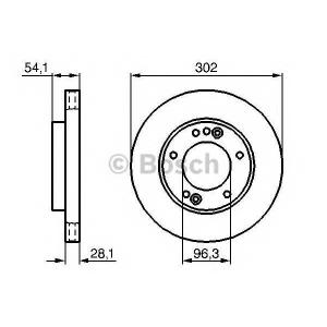 BOSCH 0 986 479 230 Тормозной диск (пр-во Bosch)