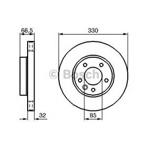 Тормозной диск 0986479250 bosch - VW TOUAREG (7LA, 7L6, 7L7) вездеход закрытый 3.2 V6