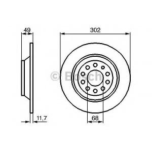 Тормозной диск 0986479257 bosch - AUDI A6 (4F2, C6) седан 3.0 TFSI quattro